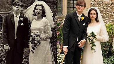 左图为1965年,斯蒂芬霍金与他的前妻简的结婚照,团购为电影剧照.哈尔滨万达电影城电影票右图图片